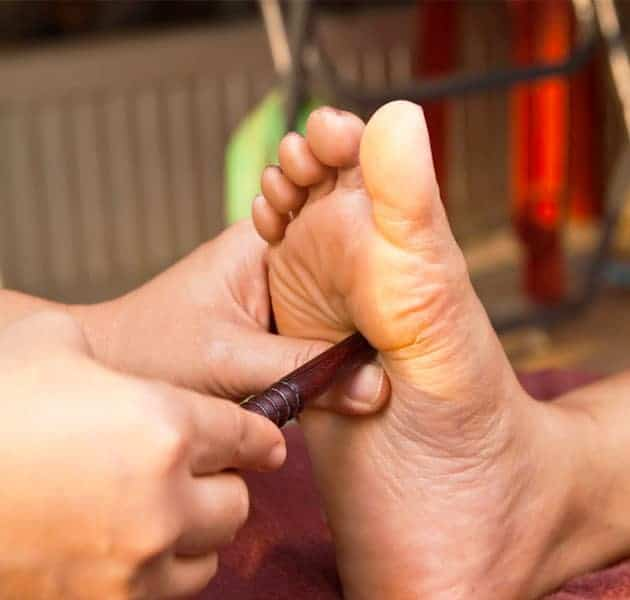 In the Thai Foot Stick Massage training course at the award winning Bali International Spa Academy (BISA) learn to stretch and massage clients, along with the use of a stick to stimulate the reflex points.