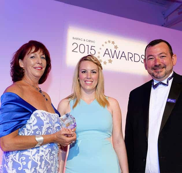 Bali BISA Founder, Penny Ellis, accepting award as CIBTAC Centre of the Year 2015