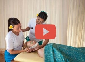 BISA Trainer show how to do Facial Treatment to Student