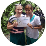 Jennifer with Trainer - Balinese Massage Student