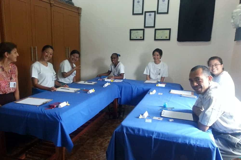CIBTAC Student's before they do their exam at BISA Sanur Spa Academy