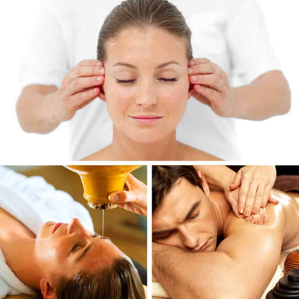 Ayurveda package - Ayurvedic body Massage, Indian Head Massage and Shirodara