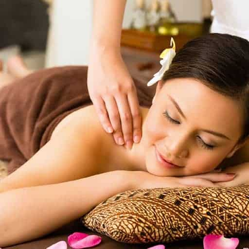 A lady enjoying Javanese Massage. Learn at Bali BISA