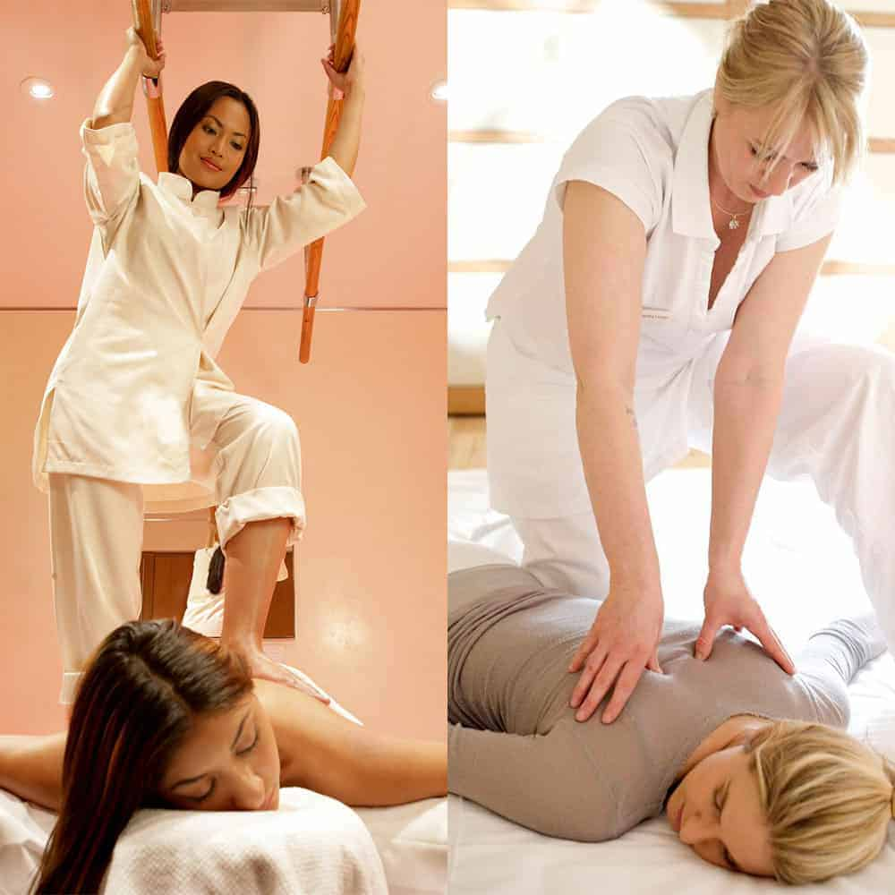 This shiatsu course package at the Bali International Spa Academy covers both shiatsu massage and A-shiatsu where the therapist walks on the client's back using bars to balance.