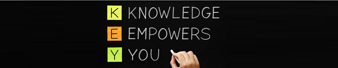 Continuing Education - Knowledge Empowers You sign board with person writing these words