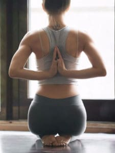 A women improving her body posture